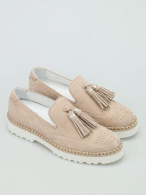 Hogan: Loafers & Slippers online - H311 Route tassels detail slip-ons