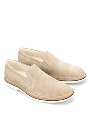 Hogan: Loafers & Slippers online - H316 suede slip-ons
