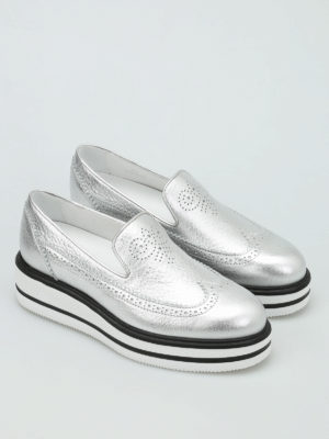 Hogan: Loafers & Slippers online - H323 brogue slip-ons
