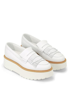 Hogan: Loafers & Slippers online - H355 maxi sole leather loafers