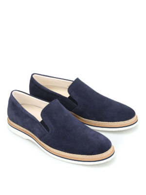 Hogan: Loafers & Slippers online - Jute details suede slippers