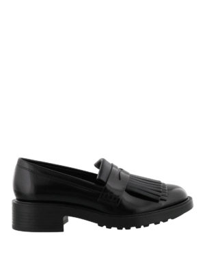 Hogan: Loafers & Slippers - Route H332 fringed leather loafers