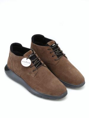 HOGAN: tronchetti online - Sneaker polacchini marroni Interactive³