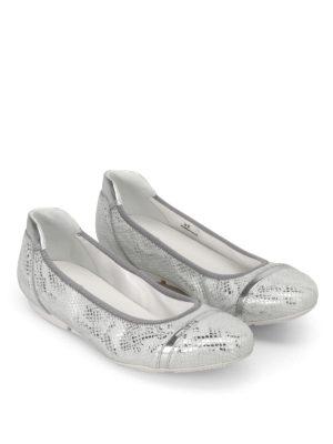 HOGAN: ballerine online - Ballerine Wrap 145 color argento