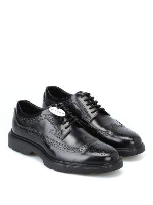 HOGAN: scarpe stringate online - Derby stringate H393 nere con memory foam
