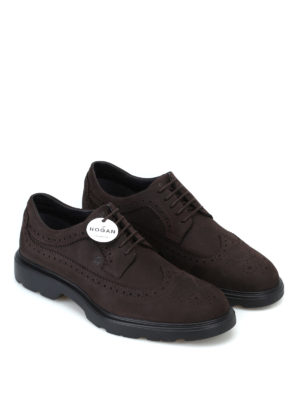 HOGAN: scarpe stringate online - Derby stringate H393 in nabuk
