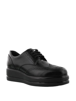 HOGAN: scarpe stringate online - Derby brogue Route H323 in pelle