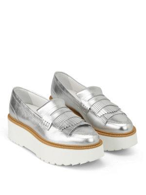 HOGAN: Mocassini e slippers online - Mocassini H355 in pelle laminata