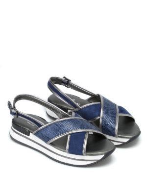 HOGAN: sandali online - Sandali H257 a fasce incrociate
