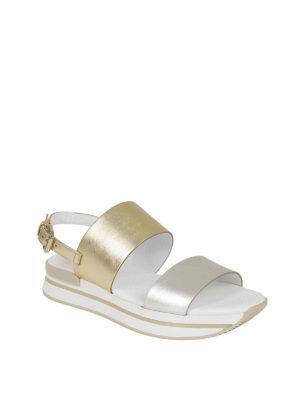 HOGAN: sandali online - Sandali H257 in pelle laminata