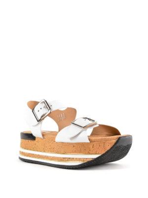 HOGAN: sandali online - Sandali bianchi H354 con plateau