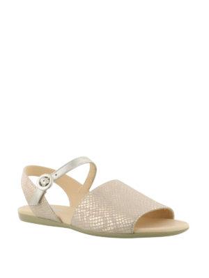 HOGAN: sandali online - Sandali piatti rosa metallizzato