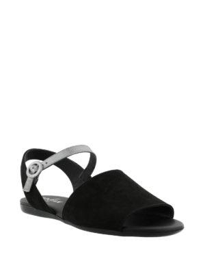 HOGAN: sandali online - Sandali piatti neri e argento