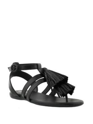 HOGAN: sandali online - Sandali Valencia in pelle nera