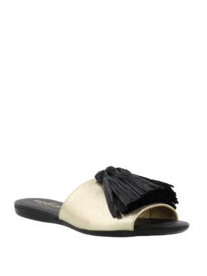 HOGAN: sandali online - Ciabattine Valencia dorate