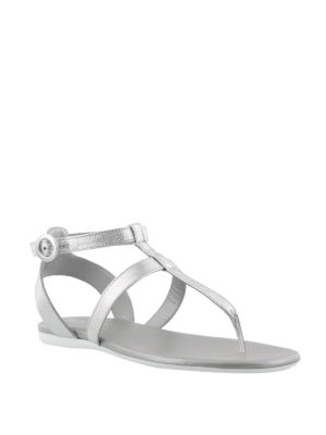 HOGAN: sandali online - Sandali Valencia in pelle argento