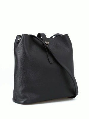 HOGAN: borse a spalla online - Tracolla media Hobo Iconic nera