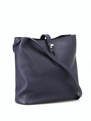 HOGAN: borse a spalla online - Tracolla media Hobo Iconic blu