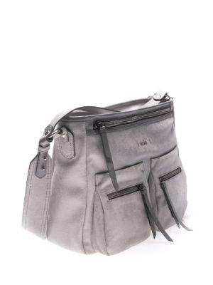 HOGAN: borse a spalla online - Borsa grigia a spalla in pelle