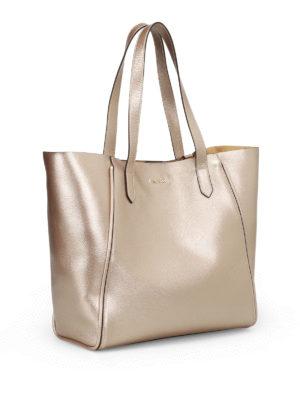 HOGAN: shopper online - Shopper in pelle metallizzata