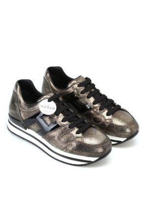 HOGAN: sneakers online - Sneaker metallizzate color bronzo