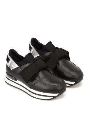 HOGAN: sneakers online - Slip-on H222 in pelle e tessuto
