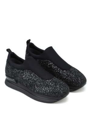 HOGAN: sneakers online - Slip-on H222 in scuba e glitter