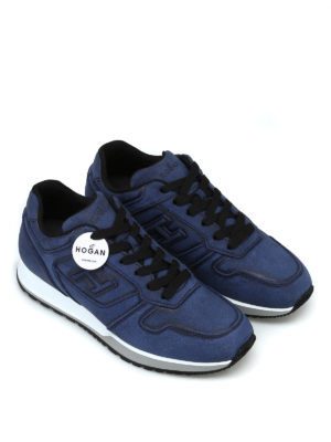 HOGAN: sneakers online - Sneaker H321 in crosta blu