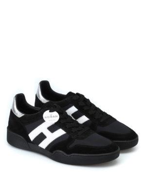 HOGAN: sneakers online - Sneaker H357 in suede e tessuto tecnico nero