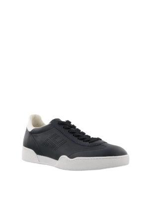 HOGAN: sneakers online - Sneaker H357 blu con logo traforato