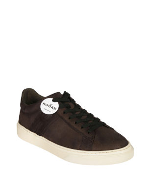 HOGAN: sneakers online - Sneaker H365 in crosta marrone