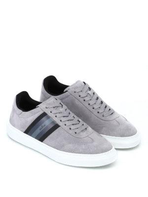 HOGAN: sneakers online - Sneaker H365 in camoscio grigio