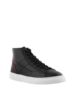 HOGAN: sneakers online - Sneaker H365 alte nere in pelle