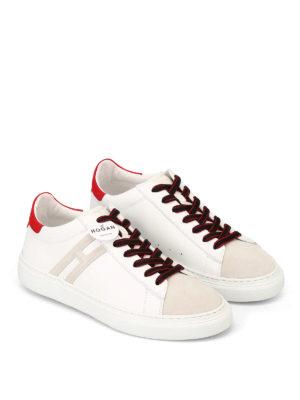 HOGAN: sneakers online - Sneaker in nabuck e pelle H365