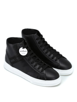 HOGAN: sneakers online - Sneaker high-top H366 in pelle
