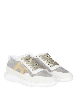 HOGAN: sneakers online - Sneaker H371 Interactive³ sui toni dell'oro