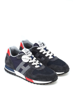 HOGAN: sneakers online - Sneaker blu scuro H383 new running