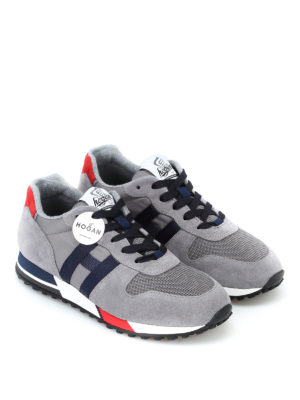 HOGAN: sneakers online - Sneaker grigie H383 new running