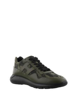 HOGAN: sneakers online - Sneaker Interactive³ verdi militare