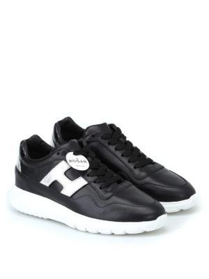 HOGAN: sneakers online - Sneaker Interactive³ nere e argento
