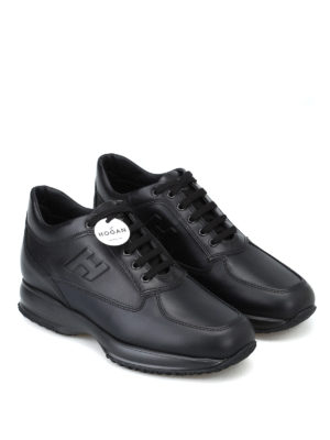 HOGAN: sneakers online - Sneaker nere Interactive in pelle