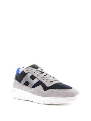 HOGAN: sneakers online - Sneaker Interactive³ blu e grigie