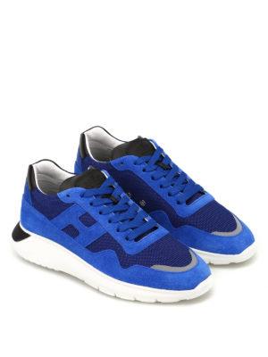 HOGAN: sneakers online - Sneaker Interactive³ in suede blu