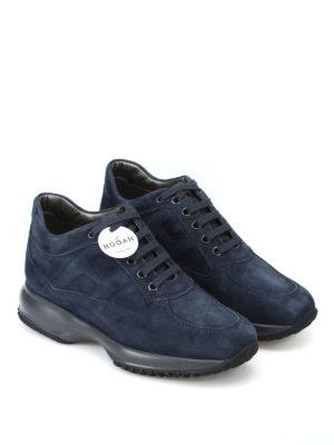HOGAN: sneakers online - Sneaker Interactive in camoscio blu