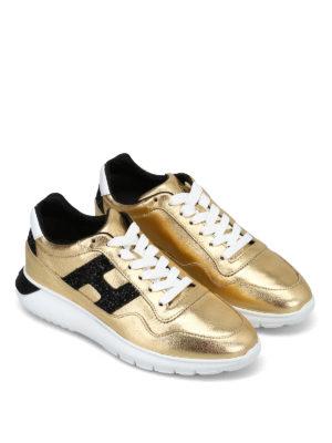 HOGAN: sneakers online - Sneaker Interactive³ modello urbano color oro