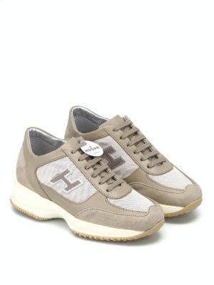 HOGAN: sneakers online - Interactive beige con H vellutata