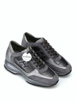 HOGAN: sneakers online - Sneaker Interactive in suede e pelle laminata
