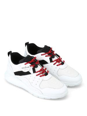 HOGAN: sneakers online - Sneaker bianche Interactive³ in pelle