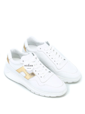 HOGAN: sneakers online - Sneaker Interactive³ in pelle bianca
