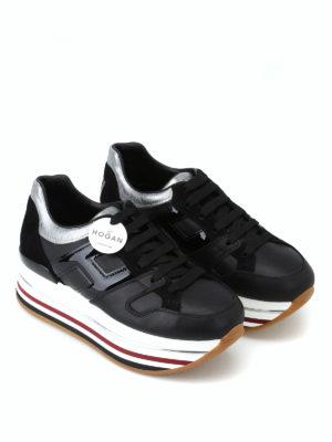 HOGAN: sneakers online - Sneaker nere con cuore e maxi plateau